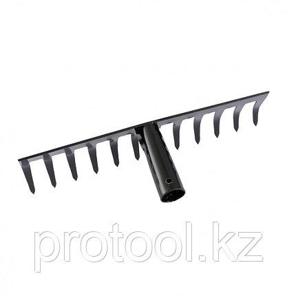 Грабли 12-зубые, 310 мм, без черенка, прямые// СИБРТЕХ Россия, фото 2