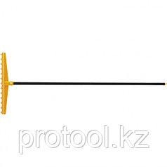 Грабли 13-зубые полипропиленовые с ребрами жесткости с металлическим черен, усиленные// PALISAD LUXE