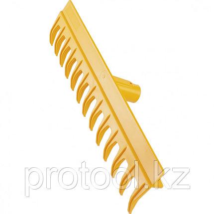 Грабли 13-зубые полипропиленовые с ребрами жесткости с металлическим черен, усиленные// PALISAD LUXE, фото 2