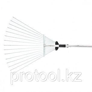 Грабли веерные 15-зубые, метал. черенок 1130 мм, раздвижные// PALISAD, фото 2