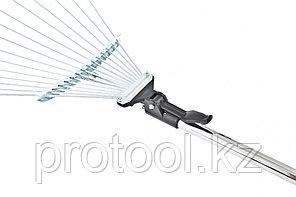 Грабли веерные 15-зубые, метал. черенок 1130 мм, раздвижные// PALISAD, фото 3