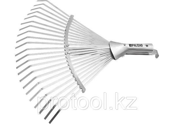 Грабли веерные 22 зуба, без черенка, раздвижные, 270-460 мм// PALISAD, фото 2