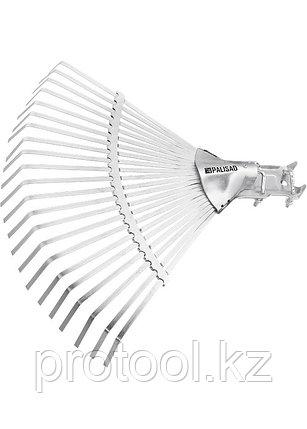 Грабли веерные 22 зуба, без черенка, регулируемые// PALISAD, фото 2