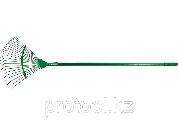 Грабли веерные 22 зуба, металлический черенок, 1500 мм// PALISAD