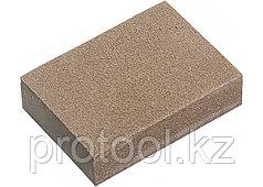 Губка для шлифования, 100 х 70 х 25 мм, средняя жестк., 3 шт., P 60/80, P 60/100, P 80/120// MATRIX