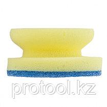 Губки для посуды c тефлоновым покрытием, круглые, d 95*50 мм, 2 шт. в картоне//ТМ Elfe /Россия, фото 3