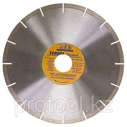 Диск алмазный отрезной сегментный, 115 х 22,2 мм, сухая резка, EUROPA Standard//SPARTA, фото 2
