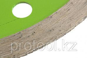 Диск алмазный отрезной сплошной, 115 х 22,2 мм, мокрая резка// СИБРТЕХ, фото 2