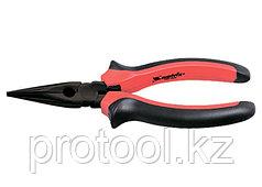 Длинногубцы Black Nickel, 200 мм, прямые, двухкомпонентные рукоятки// MATRIX