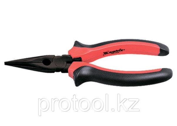Длинногубцы Black Nickel, 160 мм, прямые, двухкомпонентные рукоятки// MATRIX, фото 2