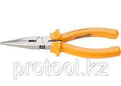 Длинногубцы Classic, 180 мм, прямые шлифованные, пластмассовые рукоятки//  SPARTA