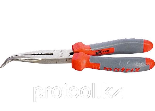 Длинногубцы изогнутые, 200мм, двухкомпонентные рукоятки//MATRIX PROFESSIONAL, фото 2