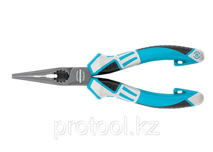 Длинногубцы прямые 170 мм,  трехкомпонентные рукоятки// GROSS