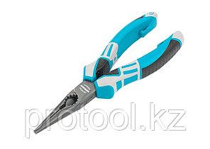 Длинногубцы прямые 170 мм,  трехкомпонентные рукоятки// GROSS, фото 2