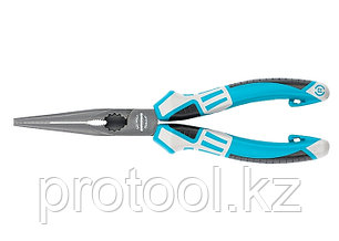 Длинногубцы прямые 205 мм,  трехкомпонентные рукоятки// GROSS, фото 2