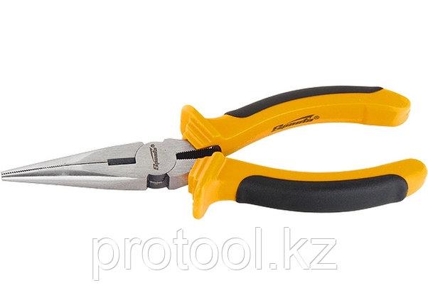 Длинногубцы, Comfort, 180 мм, прямые шлифованные, двухкомпонентные рукоятки//  SPARTA, фото 2