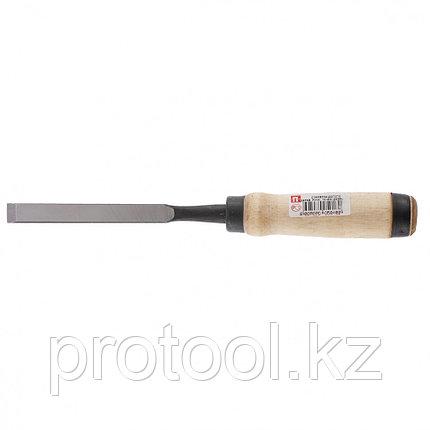 Долото-стамеска, 16 мм, плоское, деревянная рукоятка (Арефино)// Россия, фото 2