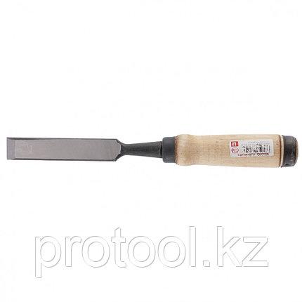 Долото-стамеска, 20 мм, плоское, деревянная рукоятка (Арефино)// Россия, фото 2
