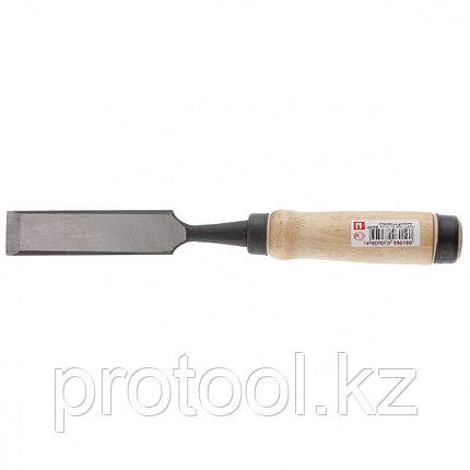 Долото-стамеска, 32 мм, плоское, деревянная рукоятка (Арефино)// Россия, фото 2
