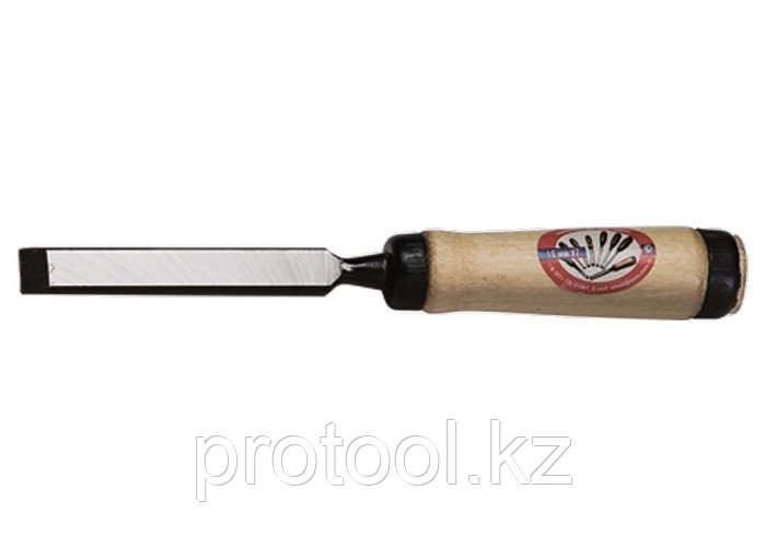 Долото-стамеска, 8 мм, плоское, деревянная рукоятка (Арефино)// Россия