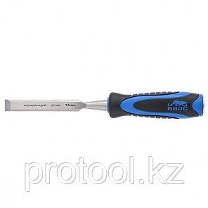 Долото-стамеска,плоская,16мм, двухкомпонентная рукоятка,металлический затыльник//БАРС, фото 2