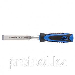 Долото-стамеска,плоская,20мм, двухкомпонентная рукоятка,металлический затыльник//БАРС, фото 2