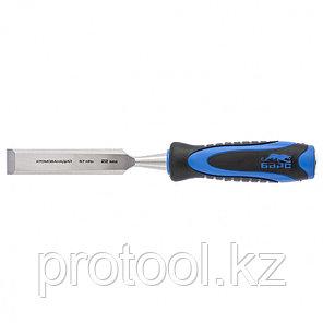 Долото-стамеска,плоская,22мм, двухкомпонентная рукоятка,металлический затыльник//БАРС, фото 2