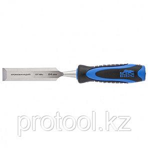 Долото-стамеска,плоская,24мм, двухкомпонентная рукоятка,металлический затыльник//БАРС, фото 2
