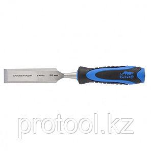 Долото-стамеска,плоская,28мм, двухкомпонентная рукоятка,металлический затыльник//БАРС, фото 2