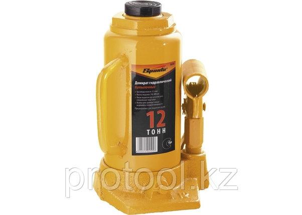 Домкрат гидравлический бутылочный, 12 т, h подъема 210-400 мм// SPARTA, фото 2