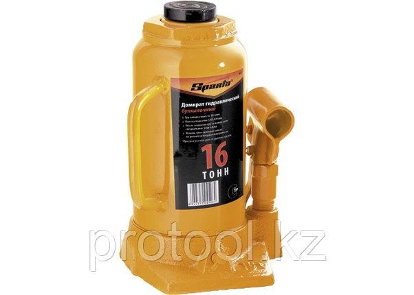 Домкрат гидравлический бутылочный, 16 т, h подъема 220-420 мм// SPARTA, фото 2