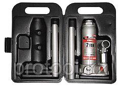 Домкрат гидравлический бутылочный, 2 т, h подъема 181–345 мм, в пласт. кейсе// MATRIX MASTER