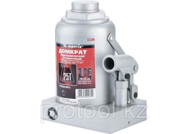 Домкрат гидравлический бутылочный, 25 т, h подъема 240–375 мм// MATRIX MASTER, фото 2