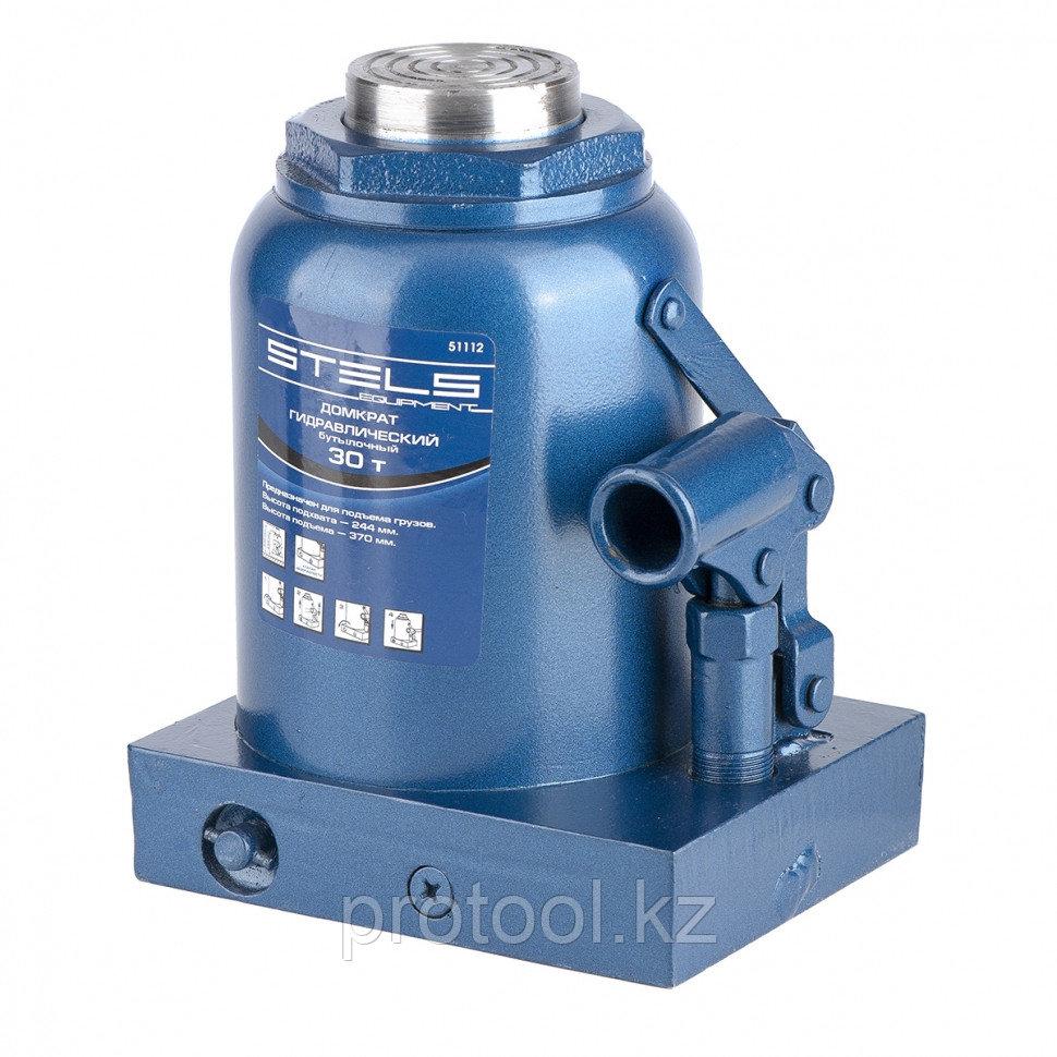 Домкрат гидравлический бутылочный, 30 т, h подъема 244–370 мм// STELS