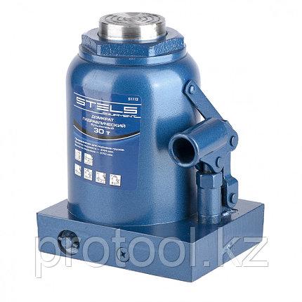 Домкрат гидравлический бутылочный, 30 т, h подъема 244–370 мм// STELS, фото 2