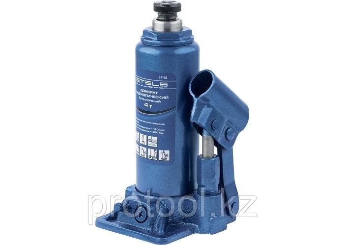 Домкрат гидравлический бутылочный, 4 т, h подъема 194–372 мм// STELS