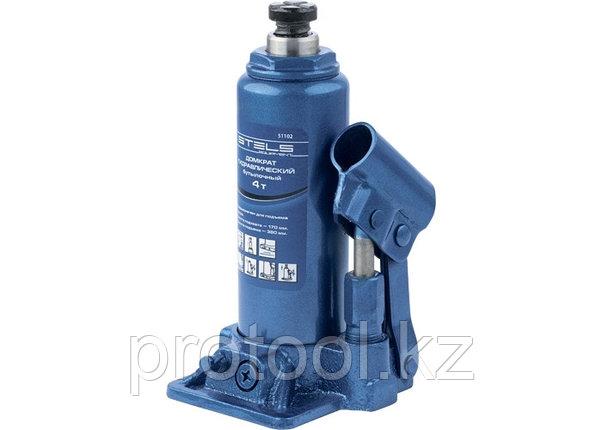 Домкрат гидравлический бутылочный, 4 т, h подъема 194–372 мм// STELS, фото 2