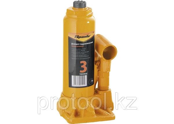 Домкрат гидравлический бутылочный, 3т, h подъема 180-340 мм// SPARTA, фото 2