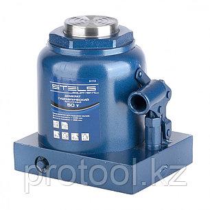 Домкрат гидравлический бутылочный, 50 т, h подъема 236–356 мм// STELS, фото 2