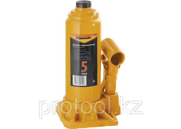 Домкрат гидравлический бутылочный, 5 т, h подъема 195-380 мм// SPARTA, фото 2