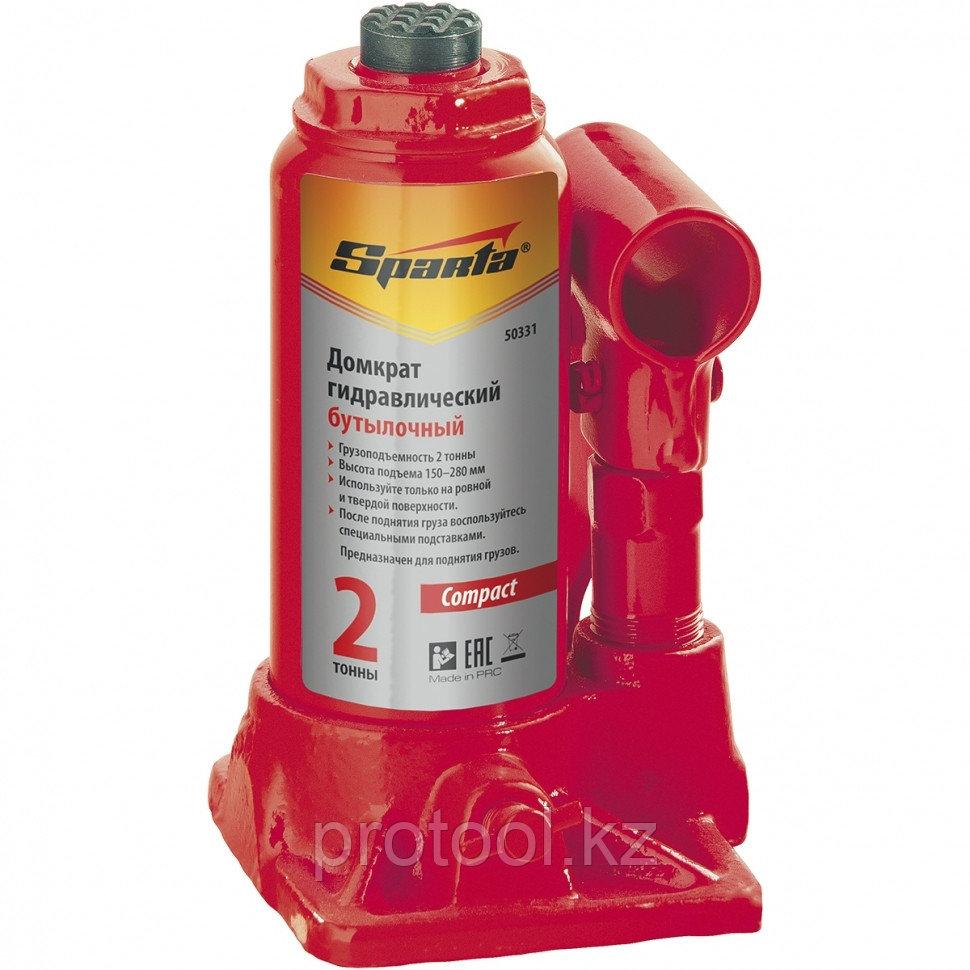 Домкрат гидравлический бутылочный, 8 т, h подъема 180-350 мм// SPARTA Compact