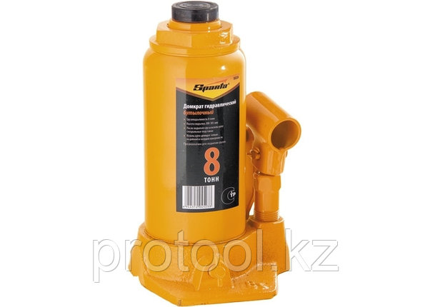 Домкрат гидравлический бутылочный, 8 т, h подъема 200-385 мм// SPARTA, фото 2
