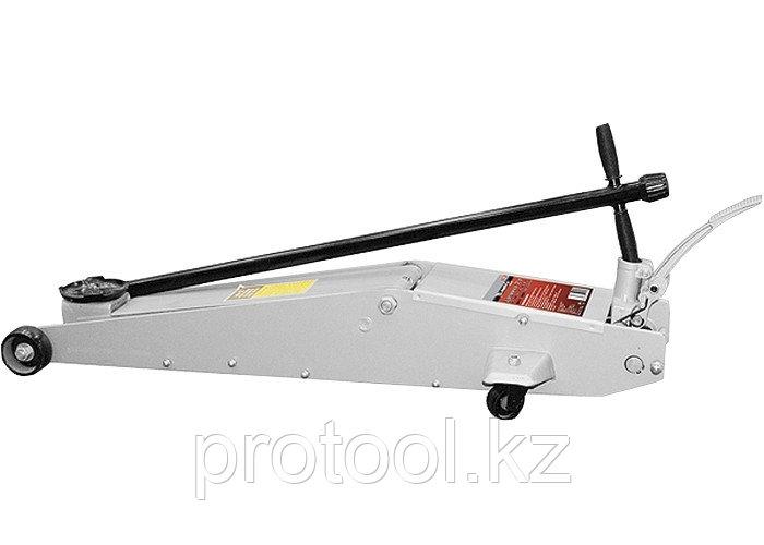 Домкрат гидравлический подкатный, 2 т, h подъема 140–800 мм, с переключателем режимов подъема//MATRI