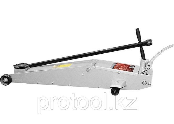Домкрат гидравлический подкатный, 2 т, h подъема 140–800 мм, с переключателем режимов подъема//MATRI, фото 2