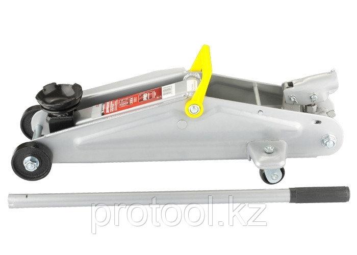 Домкрат гидравлический подкатный, 3 т, h подъема 130–410 мм// MATRIX