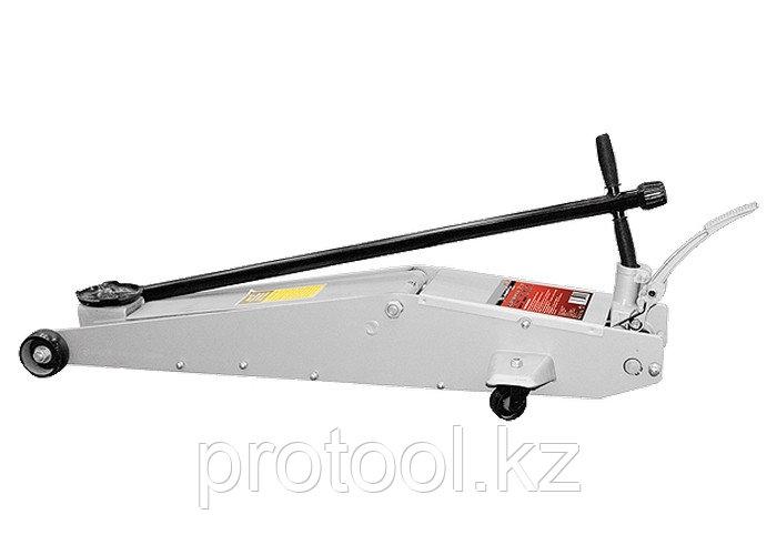 Домкрат гидравлический подкатный, 3 т, h подъема 145–610 мм, с переключ. режимов подъема//MATRIX