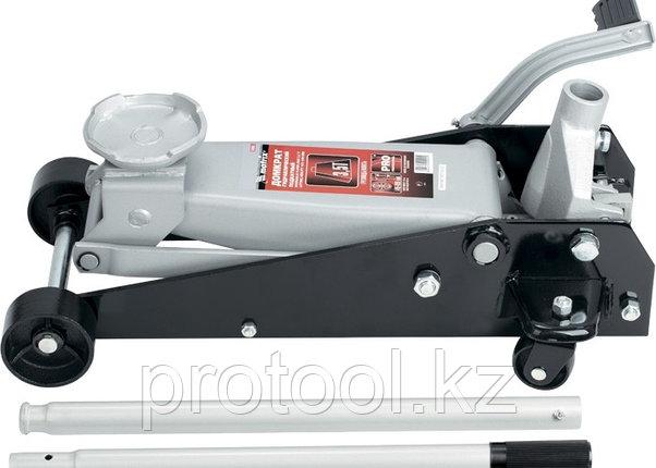 Домкрат гидравлический подкатный, 3,5 т, h подъема 145–490 мм, с педалью// MATRIX MASTER, фото 2