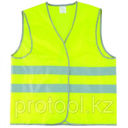 Жилет сигнальный, желтый, размер XL// СИБРТЕХ, фото 2