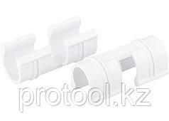 Зажим для крепления плёнки к каркасу парника, d-12 мм, 20 шт, белый // PALISAD