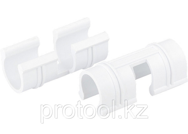 Зажим для крепления плёнки к каркасу парника, d-12 мм, 20 шт, белый // PALISAD, фото 2